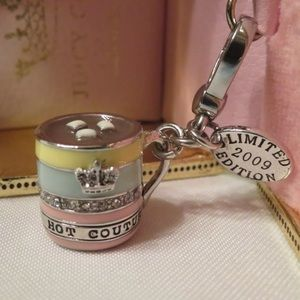 Juicy Couture Hot Cocoa Chocolate Silver Mug Charm